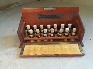 Antique Mahogany cased Allergens Test Solutions / start sale 49