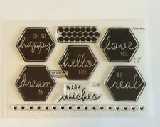 Close To My Heart - Acrylic Stamps C1596 HAPPY HEXAGONS MY ACRILYX