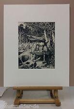 """MAX KLINGER (1857-1920) Orig. Radierung #58 """"Simplici Schreibstunde"""" 40x50cm PP"""