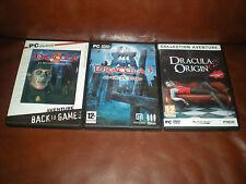 LOT 3 JEUX PC DRACULA 2 DERNIER SANCTUAIRE+DRACULA 3 VOIE DRAGON+ DRACULA ORIGIN