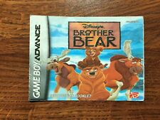 Brother Bear (complete 6 pages) Gameboy Advance Instruction Manual Only