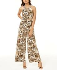 INC Women's Sleeveless Embellished Jumpsuit (Brown, S)