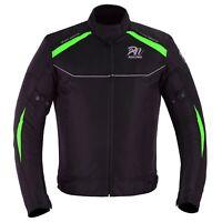 ARN® NEW Mens Motorcycle Waterproof Cordura Textile Jacket Motorbike CE Armours