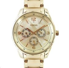 FOSSIL BQ3101 WOMEN'S WATCH GOLD TONE,S/STEEL,MOP MULTI FUNCTION BRACELET