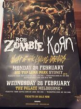 Rob Zombie Korn Night Of The Living Dreads Australian Tour Poster 2014