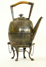 Antique huge William Hutton & Sons silver plate, kettle pot on stand very ornate