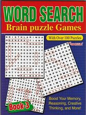 WORDSEARCH PUZZLE BOOK BRAIN PUZZLES 3 129 PUZZLES- BUY ANY 2 GET ANY 1 FREE