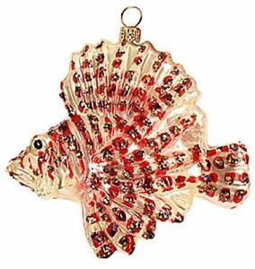 Lionfish Ocean Saltwater Sealife Tropical Fish Polish Glass Christmas 110205