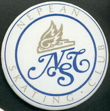 NEPEAN ONTARIO CANADA SKATING CLUB OFFICIAL OLD PIN BUTTON