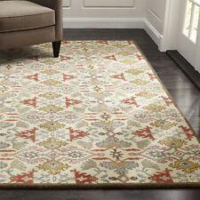 Crate & Barrel Delphine Orange 6' x 9' Handmade 100% Wool Area Rugs & Carpet