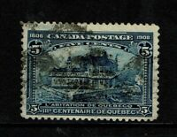 Canada SC# 99, Used, Hinge Rem, shallow side thin, very minor creasing - S6787