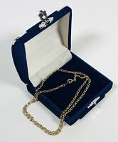 Vintage Necklace 14K Gold Plated Chain Elegant Delicate Dainty Costume Jewellery
