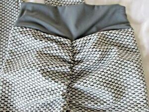 Women Leggings Yoga Pants Butt Scrunch Push Up Anti Cellulite Small Gray (B56)