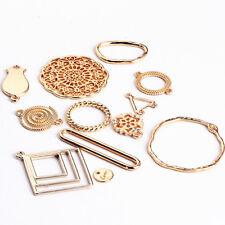10 Pcs//Set Square Geometric Crystal Charms Pendants  DIY Craft Jewelry Making xb