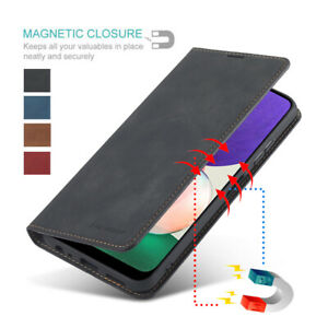For Samsung Galaxy A22 5G Luxury Magnetic Wallet Flip Leather Stand Case Cover