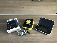 *New Style* Nintendo 3DS XL Blue Console, Charger, Hard Case & Carry Case