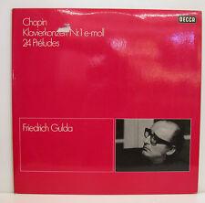 CHOPIN CONCIERTO PARA PIANO NR.1-24 PRELUDIOS FRIEDRICH GULDA -DECCA E235]