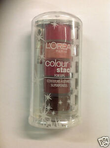 L'Oreal COLOUR STACK FOR LIPS CONTAINS 5 SHADES # Magnificent Mauves NEW