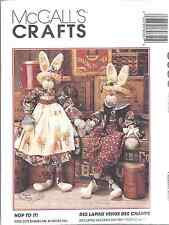 "8035 UNCUT Vintage McCalls SEWING Pattern Hop to it 34"" Bunnies + Clothes Craft"