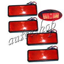 4x LED Red Reflector Tail Brake Stop Marker Light Trailer Truck ATV RV SUV Motor