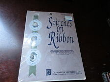 SEASHELLS Cross-Stitch Kit 3 Oval Designs Stitches On Ribbon 7204