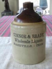 CONNOR & BRADY WHOLESALE LIQUORS NASHVILLE, TENN. 1/2 gal. JUG/ CROCK