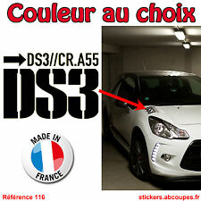 Sticker autocollant pour capot DS3 - Citroen Racing DS 3 Racing  - 116