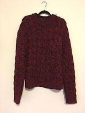 Prada Mens Red Knitted Sweater 100% Virgin Wool Made In Italy Size 50 Large