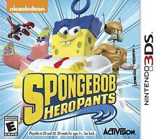 NEW SpongeBob Hero Pants (Nintendo 3DS, 2015) The Game