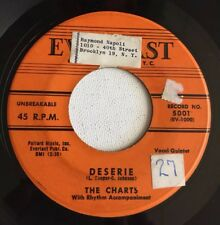 The Charts, Deserie, Everlast#5001, Doo Wop 45 Record, 1957