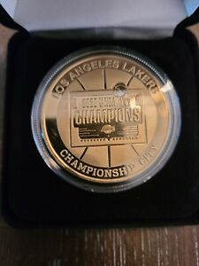Highland Mint Los Angeles Dual Championship Lakers & Dodgers Gold Coin LE 2020