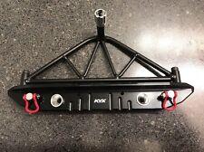 KYX HD Aluminum & Steel Rear Bumper Tire Carrier + LEDs Axial SCX10 & SCX10 II