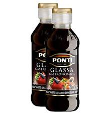 Ponti Balsamic Glaze Glassa Reduction 2 x 250ml Made in Italy Premium
