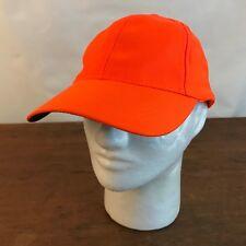Hunting Fluorescent Orange Polyester Baseball Strapback Cap Hat CH15