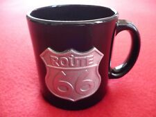 ROUTE 66 COFFEE MUG WITH A METAL HIGHWAY SIGN LOGO ENGRAVING EXCELLENT!