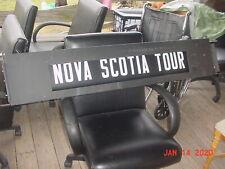 Vintage Original Bus Roll Sign 30 destinations man cave rec room way cool 12v?