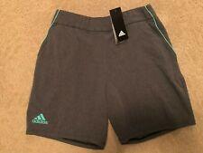 NWT boys adidas woven tennis short size M grey