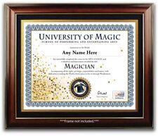 Magician School Personalized Certificate Diploma - Magic Kit Tricks Xmas Gift