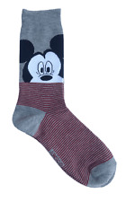 Disney Mickey Mouse Dress Socks Men's Shoe Size 6-12 Crew Gift Casual L26