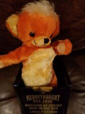 """Merrythought  Cheeky Jack in Box Bear LMT #44/500 13"""" made England"""