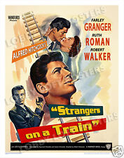 Strangers On A Train Lobby Card Poster Os/Bel 1951 Farley Granger Hitchcock