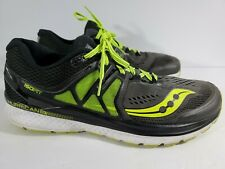 SAUCONY Hurricane Iso 3 MEN'S Size 13 Running Shoes S20348-1 Grey/ Black/ Citron