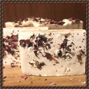3 x Handmade, Natural & Organic Goats Milk & Rose Soap