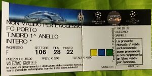 JUVENTUS FC - PORTO FC UEFA CHAMPIONS LEAGUE 2016 2017 BIGLIETTO TICKET TURIN