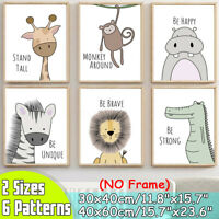 Cute Animal Home Decor Room Canvas Print Picture Wall Art Painting Unframed
