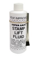 Stamp Lift Removing & Lifting Fluid 4oz Bottle with Brush Super Safe Stamps Care