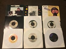 Paul McCartney 45 Rpm 27 Pc. Collection (3 W/ Picture Sleeves)..FREE SHIPPING !!