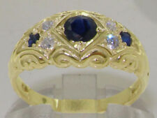 Band Yellow Gold Sapphire Fine Rings