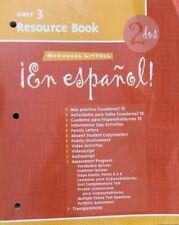 !EN ESPANOL! 2 DOS, UNIT 3 RESOURCE BOOK By Mcdougal Littel Excellent Condition