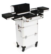 Cosmetic makeup nail hairdressing beauty vanity hair trolley case box storage ET